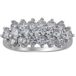 CZ Diamond Ring in 925 Sterling Silver