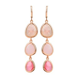 Artisan Simulated Gems Resin Earrings in Gold Plated