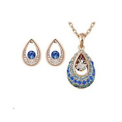 Austria Crystal Artisan Jewelry Set in Gold Plated