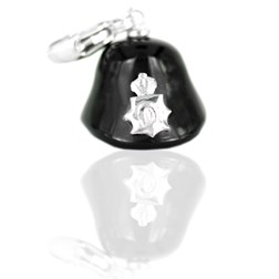 London Police Helmet Shape Black Agate Charms
